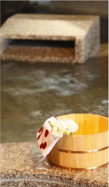 汐の湯 桶